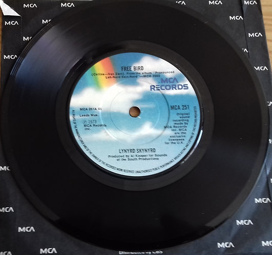 """Lynyrd Skynyrd - Free Bird (7"""", Single, RE, Blu) (MCA Records)"""