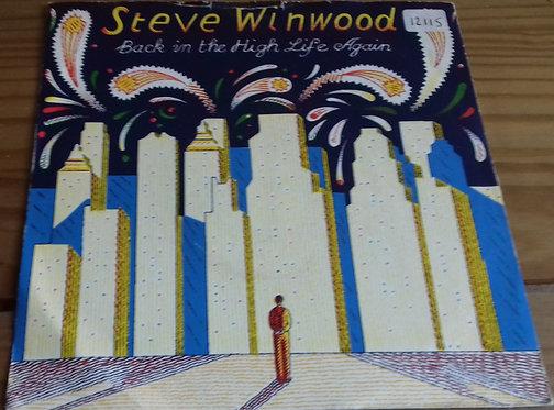 "Steve Winwood - Back In The High Life Again (7"", Single) (Island Records)"
