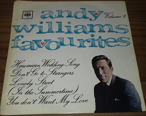 """Andy Williams - Andy Williams Favourites Volume 1 (7"""", EP) (CBS)"""