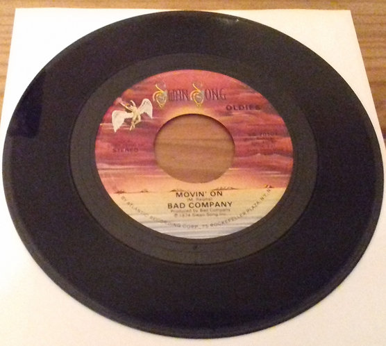 """Bad Company  - Movin' On / Easy On My Soul (7"""", Single, RE) (Swan Song)"""