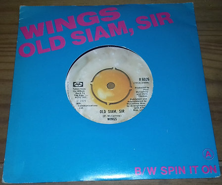 """Wings  - Old Siam, Sir / Spin It On (7"""", Single) (MPL (2))"""