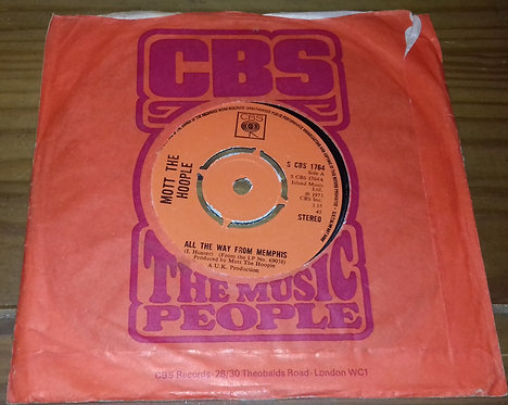"""Mott The Hoople - All The Way From Memphis (7"""", Single, Kno) (CBS)"""