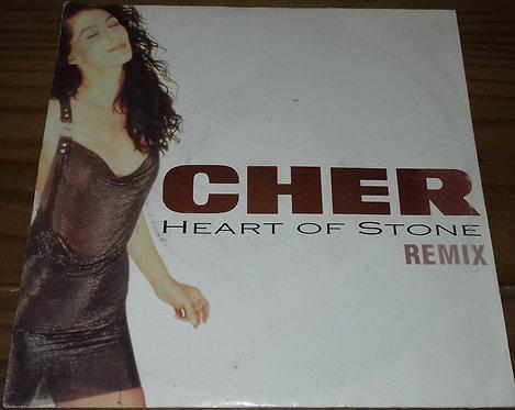 """Cher - Heart Of Stone - Remix (7"""", Single) (Geffen Records, Geffen Records, Geff"""