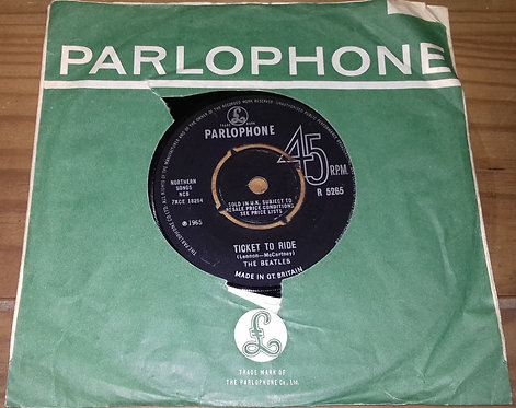 """The Beatles - Ticket To Ride (7"""", Single, Mono) (Parlophone)"""