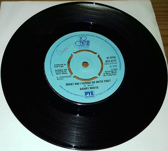 """Barry White - What Am I Gonna Do With You? (7"""", Fou) (20th Century Records)"""
