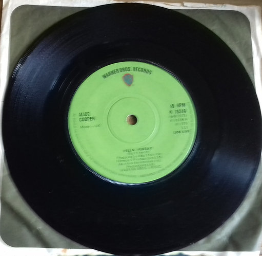 "Alice Cooper - Hello Hurray (7"", Single, Sol) (Warner Bros. Records)"