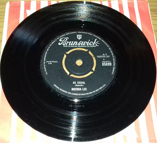 "Brenda Lee - As Usual (7"", Single) (Brunswick)"