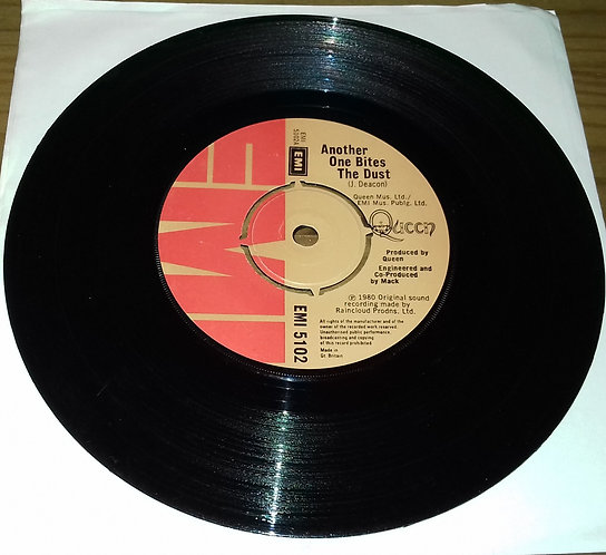 """Queen - Another One Bites The Dust (7"""", Single, 4 P) (EMI)"""