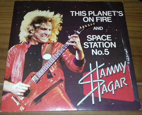 """Sammy Hagar - This Planet's On Fire / Space Station No. 5 (7"""", Single) (Capitol"""