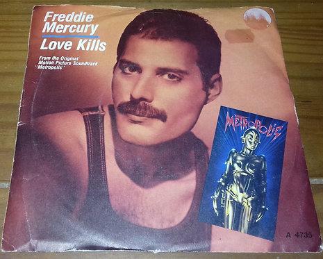 """Freddie Mercury - Love Kills (7"""", Single) (CBS)"""