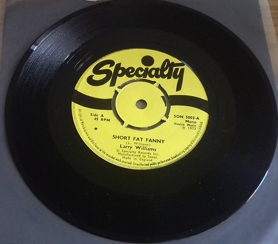 "Larry Williams  - Short Fat Fanny / Boney Maronie (7"", Mono, 4P ) (Specialty)"