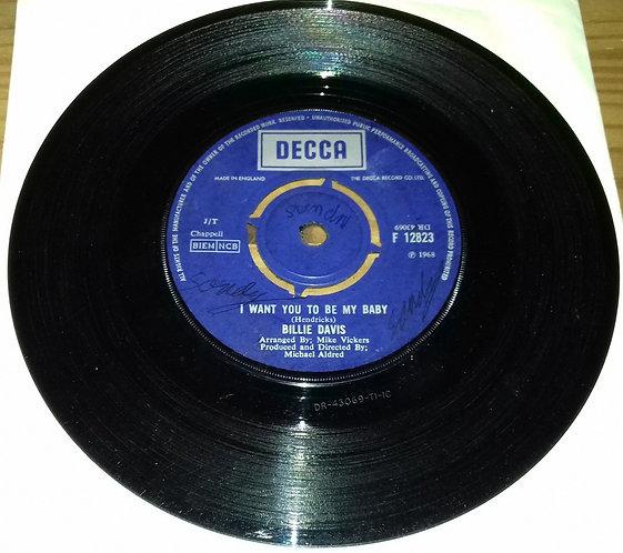 """Billie Davis - I Want You To Be My Baby (7"""", Single) (Decca)"""