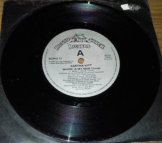 """Eartha Kitt - Where Is My Man (7"""", Single) (Record Shack Records)"""