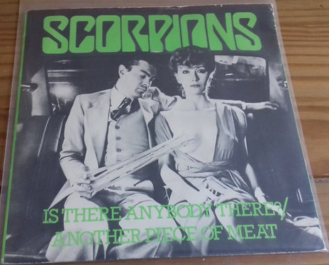 "Scorpions - Is There Anybody There? / Another Piece Of Meat (7"", Single) (Harves"