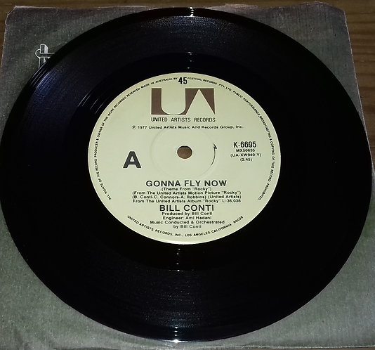 """Bill Conti - Gonna Fly Now (Theme From """"Rocky"""") (7"""", Single) (United Artists Re"""