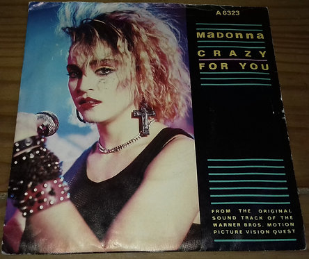 """Madonna - Crazy For You (7"""", Single, Whi) (Geffen Records)"""