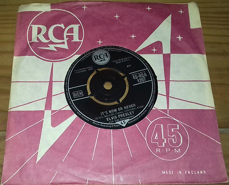 """Elvis Presley With The Jordanaires - It's Now Or Never (O Sole Mio) (7"""", Single)"""