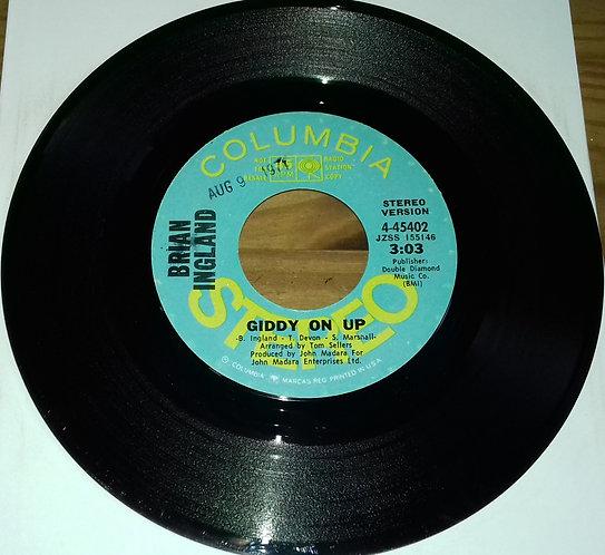 "Brian Ingland - Giddy On Up (7"", Single, Promo) (Columbia)"