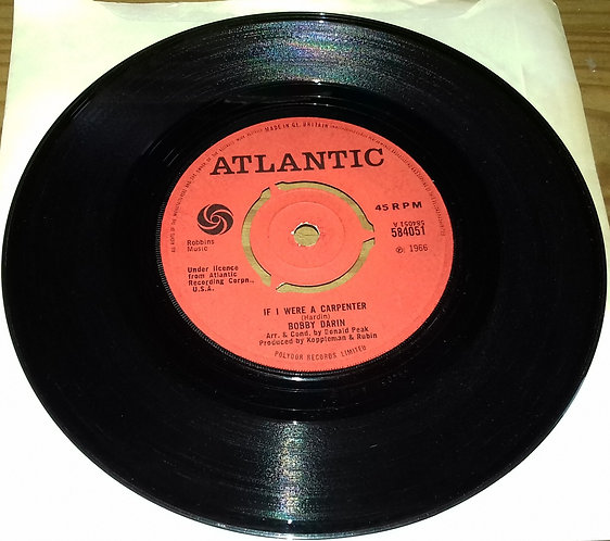 "Bobby Darin - If I Were A Carpenter (7"") (Atlantic)"
