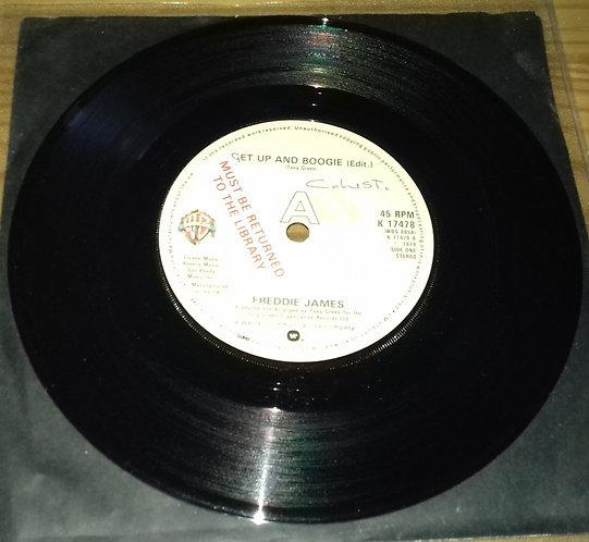 "Freddie James - Get Up And Boogie (Edit.) (7"", Single, Sol) (Warner Bros. Recor"