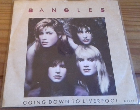 """Bangles - Going Down To Liverpool (7"""", Single, RE) (CBS)"""