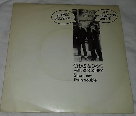 """Chas & Dave* With Rockney - Strummin' / I'm In Trouble (7"""", Single) (EMI)"""