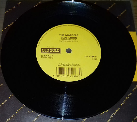 """The Marcels - Blue Moon / Summertime (7"""", Single) (Old Gold (2))"""