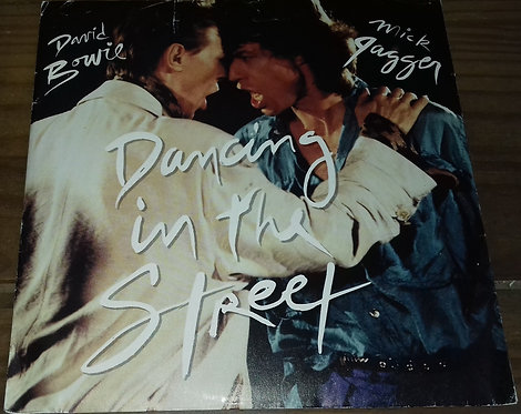 "David Bowie And Mick Jagger - Dancing In The Street (7"", Single, Bla) (EMI Ameri"