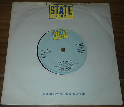 """Camouflage  - Bee Sting (7"""", Single) (State Records (3))"""