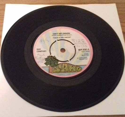 """Bad Company  - Can't Get Enough (7"""", Single) (Island Records)"""