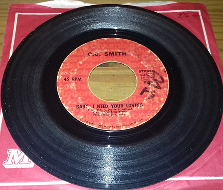 """O.C. Smith* - Baby I Need Your Loving / San Francisco Is A Lonely Town (7"""", Sing"""