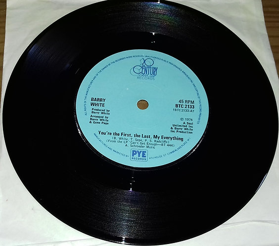 "Barry White - You're The First, The Last, My Everything (7"", Single, Sol) (20th"