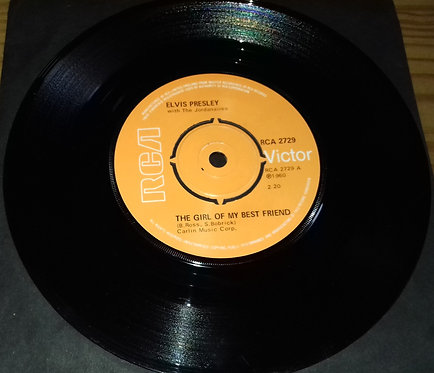 """Elvis Presley With The Jordanaires - The Girl Of My Best Friend (7"""", Single, RE"""