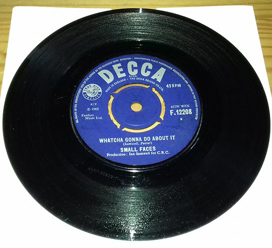 """Small Faces - Whatcha Gonna Do About It (7"""", Single) (Decca)"""