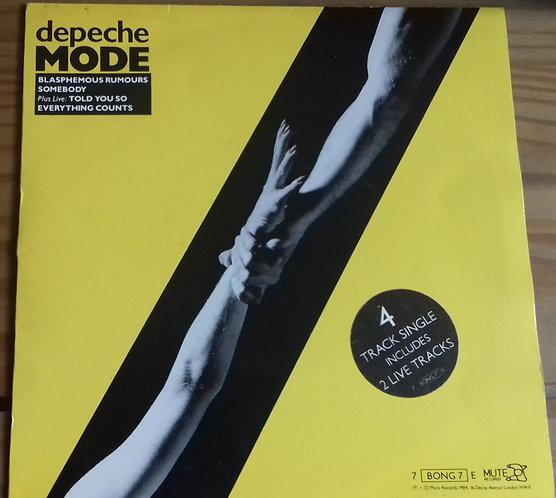 """Depeche Mode - Blasphemous Rumours / Somebody (7"""", EP, Single) (Mute)"""
