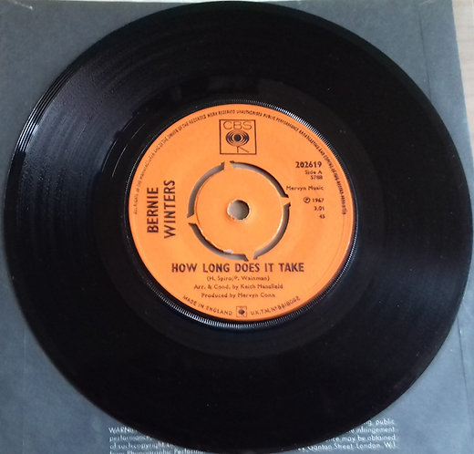 "Bernie Winters / Mike Winters - How Long Does It Take / Lonely In Love (7"") (CBS"