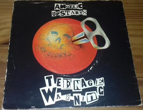 """Angelic Upstarts - Teenage Warning (7"""", Single, Sol) (Warner Bros. Records)"""