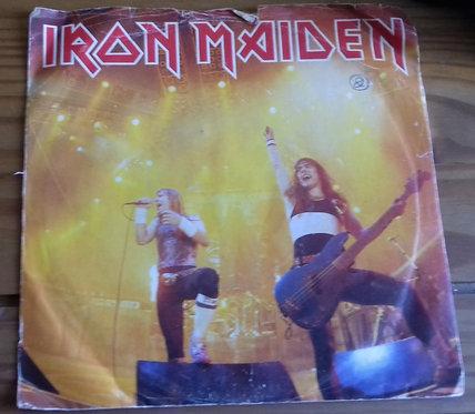 """Iron Maiden - Running Free (7"""", Single, Sil) (EMI)"""