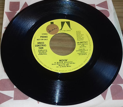 """Brass Construction - Movin' (7"""", Promo) (United Artists Records)"""