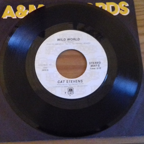 "Cat Stevens - Wild World / Moonshadow (7"", RE) (A&M Records)"