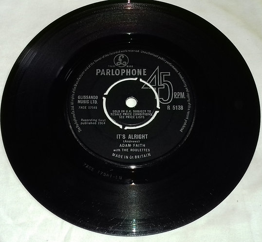 """Adam Faith With The Roulettes - It's Alright (7"""", Single) (Parlophone)"""