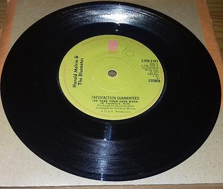 Harold Melvin & The Bluenotes* - Satisfaction Guaranteed (Or Take Your Love Bac