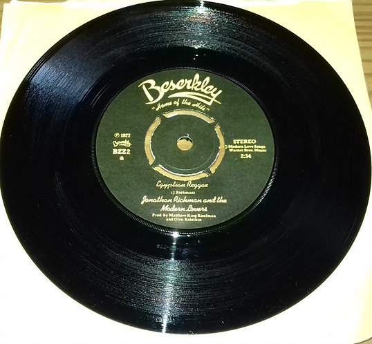 """Jonathan Richman & The Modern Lovers - Egyptian Reggae (7"""", Single) (Beserkley)"""