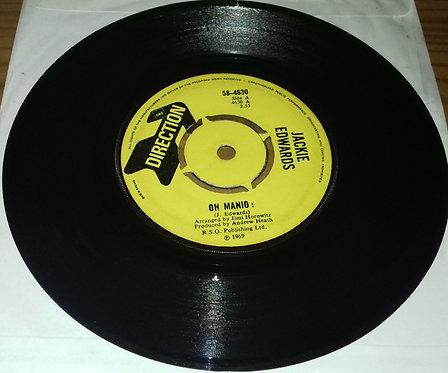 """Jackie Edwards - Oh Manio (7"""", Single) (Direction)"""