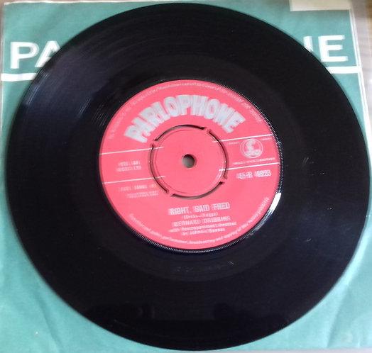 "Bernard Cribbins - Right, Said Fred (7"", Single) (Parlophone)"