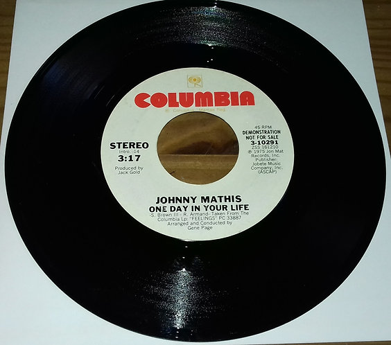 "Johnny Mathis - One Day In Your Life (7"", Mono, Promo) (Columbia)"