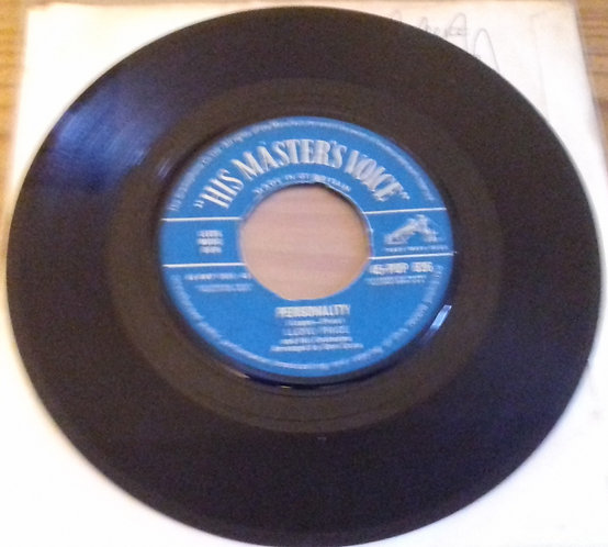 """Lloyd Price And His Orchestra - Personality (7"""") (His Master's Voice)"""