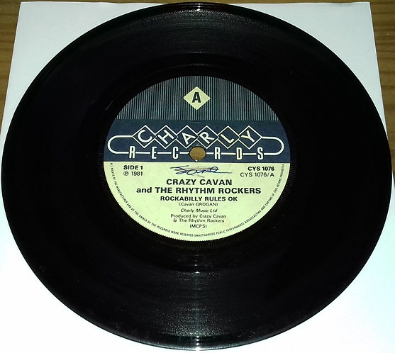 """Crazy Cavan And The Rhythm Rockers - Rockabilly Rules Ok / Trouble Trouble (7"""","""