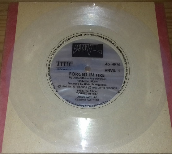 "Anvil - Forged In Fire (Flexi, 7"", S/Sided, Cle) (Attic)"