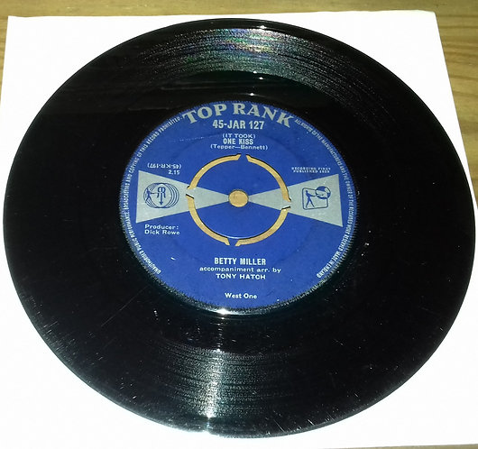 "Betty Miller - (It Took) One Kiss (7"", Single) (Top Rank (2))"